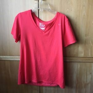 Nike red v neck workout top